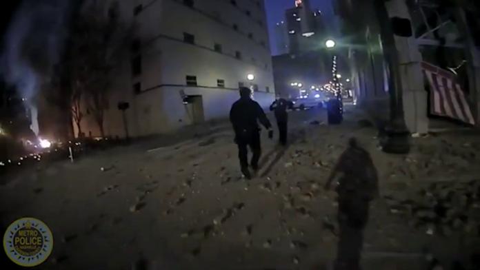 Nashville PD Body Camera of Christmas Bombing